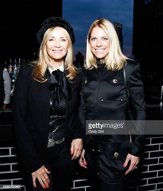 Bonnie Pfeifer Evans and Heather McDowell Levin attend Gabrielle's Angel Foundation for cancer research 5th annual medical symposium welcome cocktail...