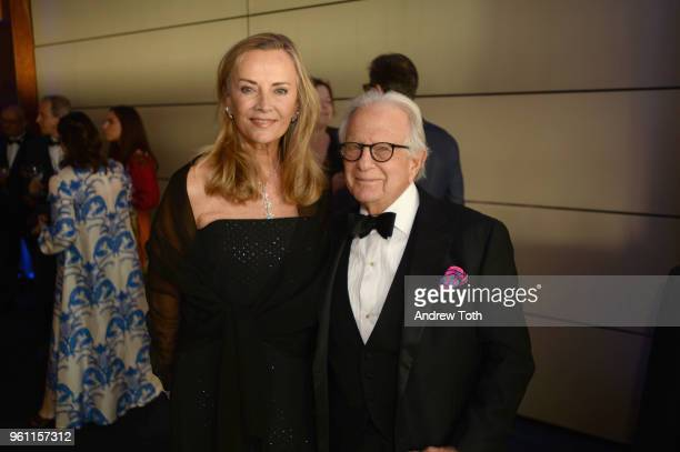 Bonnie Pfeifer Evans and Larry Leeds attend the 70th Annual Parsons Benefit on May 21 2018 in New York City