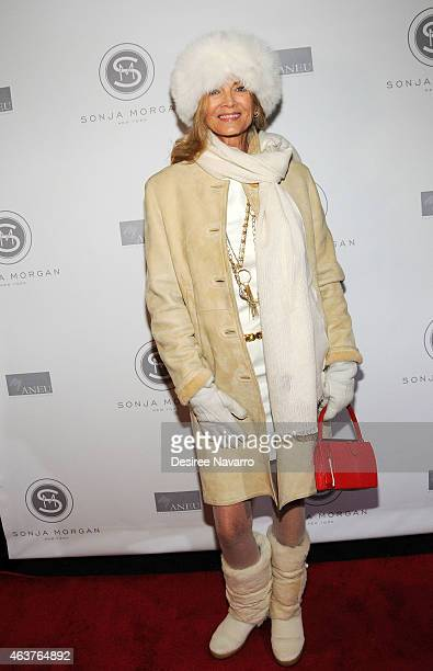 Bonnie Pfeifer Evans attends Sonja Morgan New York Brands Launch Event at The Gabarron Foundation Carriage House Center For The Arts on February 17...