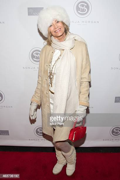 Bonnie Pfeifer Evans attends the Sonja Morgan New York Brands Launch Event at The Gabarron Foundation Carriage House Center For The Arts on February...