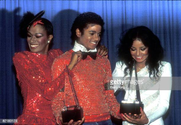 Bonnie Pointer Michael Jackson his sister LaToya Jackson at the American Music Awards