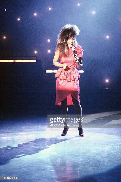 """Bonnie Pointer of the Pointer Sisters performs """"The Beast in Me"""" on American Bandstand .,"""