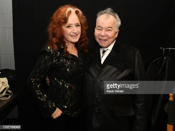 Bonnie Raitt and John Prine attend the 62nd Annual GRAMMY Awards at Staples Center on January 26 2020 in Los Angeles California