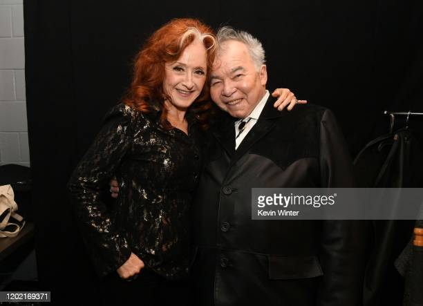 Bonnie Raitt and John Prine attend the 62nd Annual GRAMMY Awards at Staples Center on January 26, 2020 in Los Angeles, California.