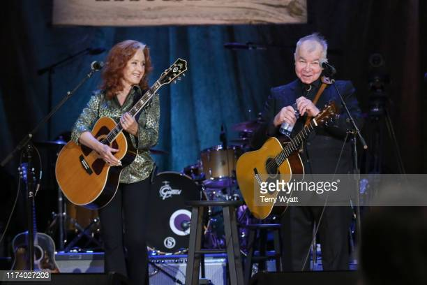 Bonnie Raitt and John Prine perform onstage during the 2019 Americana Honors Awards at Ryman Auditorium on September 11 2019 in Nashville Tennessee