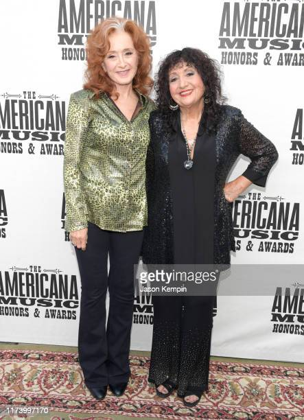 Bonnie Raitt and Maria Muldaur attend the 2019 Americana Honors Awards at Ryman Auditorium on September 11 2019 in Nashville Tennessee
