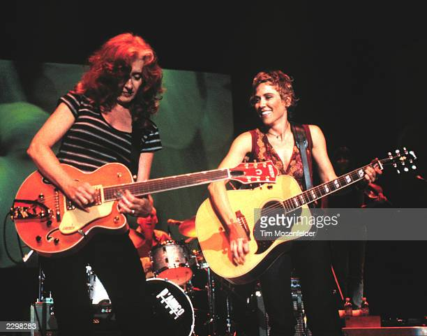 Bonnie Raitt and Sheryl Crow performing at Lilith Fair 1999 at Shoreline Amphitheater in Mountain View Calif. On July 14th, 1999. Image By: Tim...