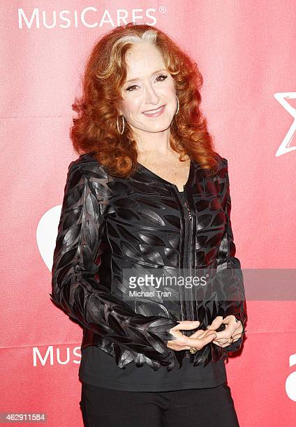 Bonnie Raitt arrives at the 2015 MusiCares Person of The Year honoring Bob Dylan held at Los Angeles Convention Center on February 6 2015 in Los...