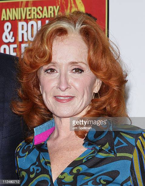 Bonnie Raitt attends the 25th Anniversary Rock Roll Hall of Fame Concert at Madison Square Garden on October 29 2009 in New York City