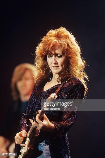Bonnie Raitt performing at Farm Aid in Indianapolis Indiana on April 7 1990