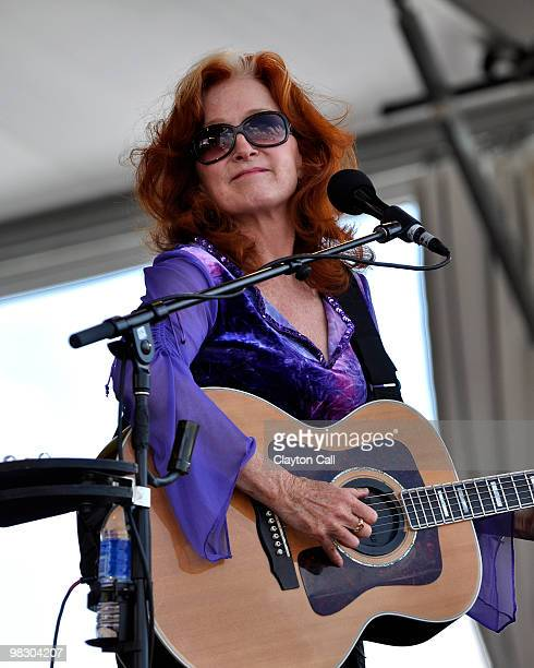 Bonnie Raitt performing at the New Orleans Jazz & Heritage Festival on May 01 2009
