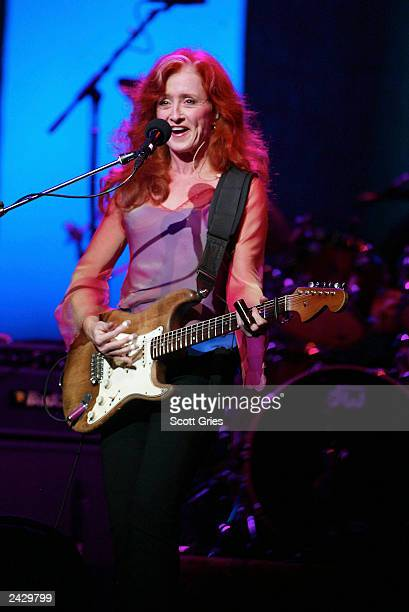 """Bonnie Raitt performs at 106.7 Lite FM """"One Night With Lite"""" annual concert at The Theater at Madison Square Garden in New York City. Lengendary..."""