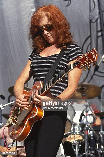 Bonnie Raitt performs at Lilith Fair 1999 at Shoreline Amphitheatre on July 14 1999 in Mountain View California