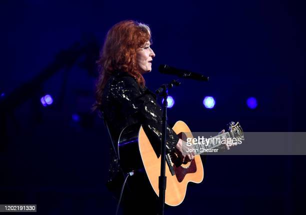 Bonnie Raitt performs at the 62nd Annual GRAMMY Awards on January 26, 2020 in Los Angeles, California.