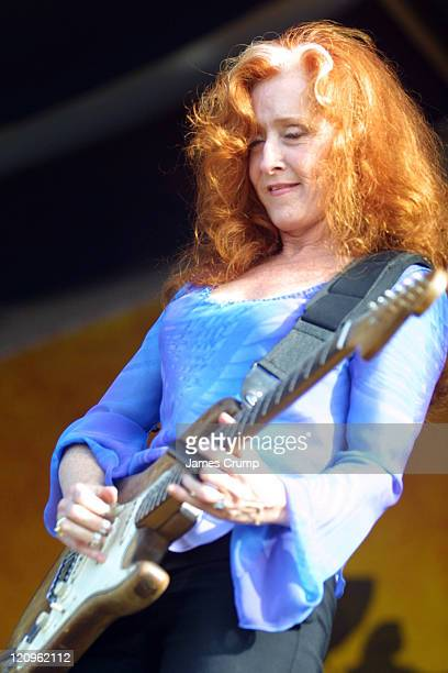 Bonnie Raitt performs at the opening day of the 35th Anniverary of the New Orleans Jazz Heritage Festival at the New Orleans Fair Grounds