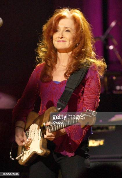 Bonnie Raitt performs during Martin Scorsese Presents Salute to the Blues Concert Kicking off The Year of the Blues February 7 2003 at Radio City...