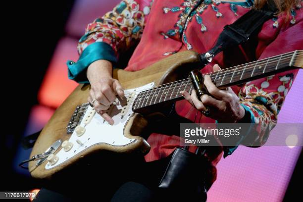 Bonnie Raitt performs in concert during Farm Aid 34 at Alpine Valley Music Theatre on September 21 2019 in East Troy Wisconsin