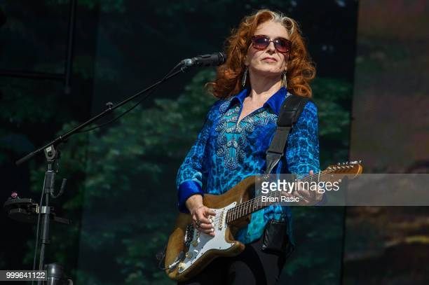 Bonnie Raitt performs on stage at Barclaycard present British Summer Time Hyde Park at Hyde Park on July 15 2018 in London England