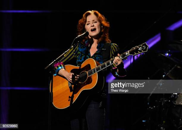 Bonnie Raitt performs onstage at the 25th Anniversary Rock Roll Hall of Fame Concert at Madison Square Garden on October 29 2009 in New York City