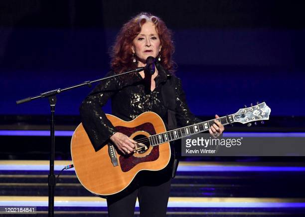Bonnie Raitt performs onstage during the 62nd Annual GRAMMY Awards at STAPLES Center on January 26 2020 in Los Angeles California