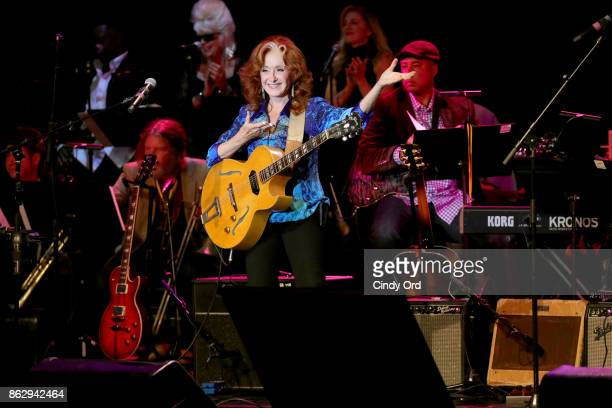 Bonnie Raitt performs onstage during the Little Kids Rock Benefit 2017 at PlayStation Theater on October 18 2017 in New York City