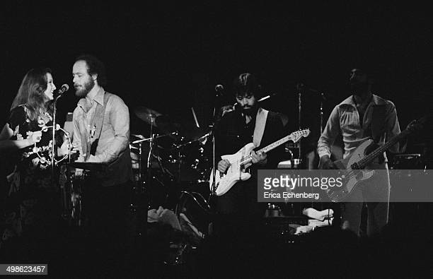 Bonnie Raitt performs with Little Feat at The Roxy Los Angeles 1976 LR Bonnie Raitt Paul Barrere Lowell George and Kenny Gradney