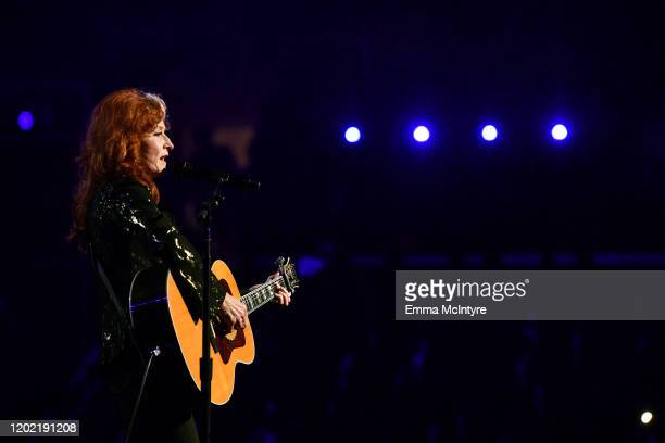 Bonnie Raitt perfroms onstage during the 62nd Annual GRAMMY Awards at STAPLES Center on January 26, 2020 in Los Angeles, California.