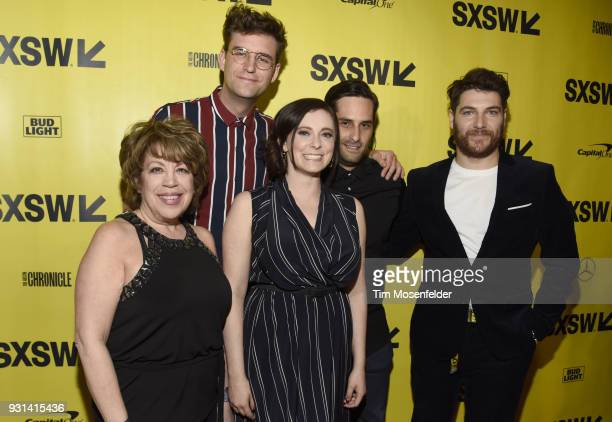 Bonnie Rose John Reynolds Rachel Bloom Doug Maud and Adam Pally attend the premiere of Most Likeley to Murder at the Stateside Theatre during on...