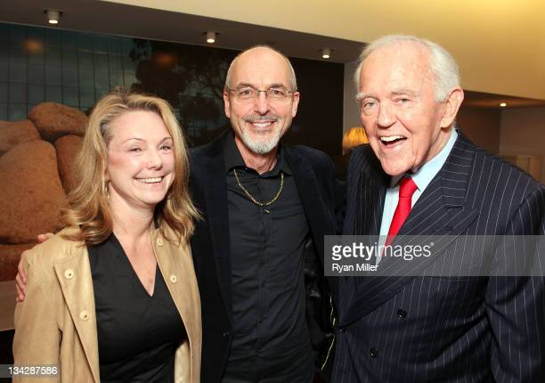 Bonnie Rychlak Exhibit Curator honoree artist Bill Viola and Henry Segerstrom pose during the reception for On Display in Orange County Modern...