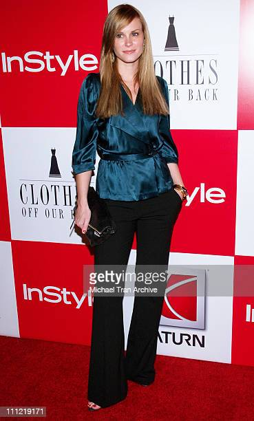 Bonnie Somerville during InStyle Presents 'Clothes Off Our Back' Charity Auction Arrivals at Republic in Los Angeles California United States