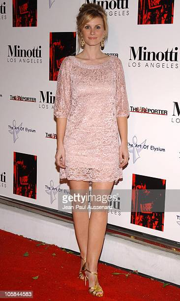 Bonnie Somerville during Kirsten Dunst Hosts The Art of Elysium Annual Art Benefit Arrivals and Inside at Minotti in Los Angeles California United...
