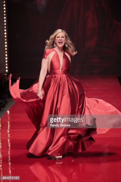 Bonnie Somerville walks the runway during the American Heart Association's Go Red For Women Red Dress Collection February 2017 New York Fashion Week...