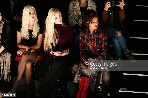 Bonnie Strange Ariane Sommer and Milka Loff Fernandes attend the Marcel Ostertag show during MercedesBenz Fashion Week Autumn/Winter 2014/15 at...