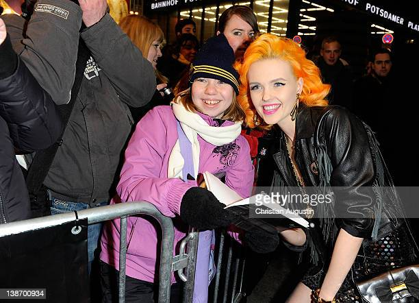 Bonnie Strange attends 'Movie meets Media' Party at Hotel Ritz Carlton on February 10 2012 in Berlin Germany