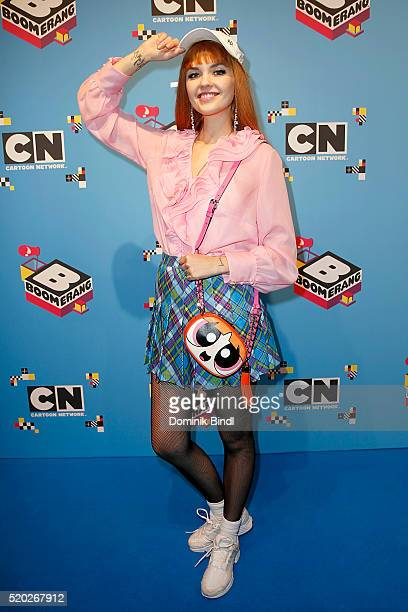 Bonnie Strange attends the Family Friends Fun Day by kids TV channels Cartoon Network and Boomerang at TonHalle on April 10th in Munich Germany