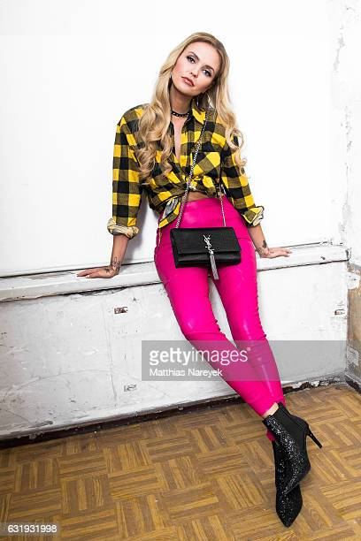 Bonnie Strange attends the Riani show during the MercedesBenz Fashion Week Berlin A/W 2017 at Kaufhaus Jandorf on January 17 2017 in Berlin Germany