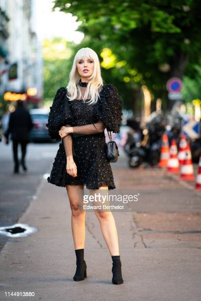 Bonnie Strange attends the Scandal A Paris JeanPaul Gaultier's New Fragance Launch Dinner Party At Lassere on April 24 2019 in Paris France