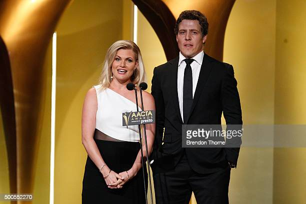 Bonnie Sveen and Steve Peacocke during the 5th AACTA Awards Presented by Presto at The Star on December 9 2015 in Sydney Australia