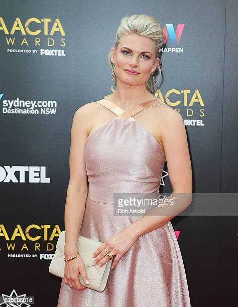 Bonnie Sveen arrives ahead of the 6th AACTA Awards at The Star on December 7 2016 in Sydney Australia
