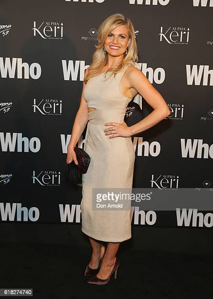 Bonnie Sveen arrives ahead of the WHO Sexiest People Party on October 26 2016 in Sydney Australia