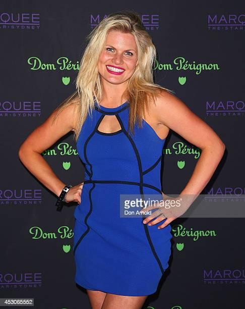 Bonnie Sveen attends the Dom Perignon Masquerade Ball At Marquee Nightclub on August 2 2014 in Sydney Australia