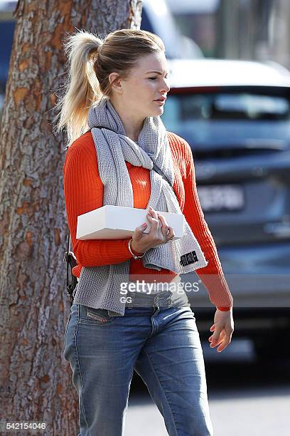 Bonnie Sveen is pictured visiting some friends on June 12 2016 in Sydney Australia