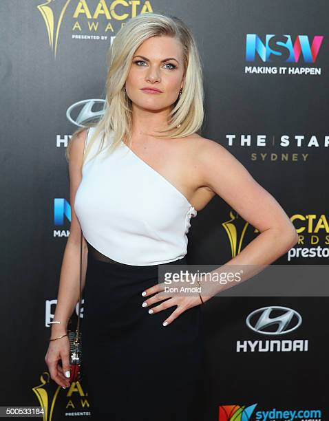 Bonnie Sveen poses on the red carpet for the 5th AACTA Awards at The Star on December 9 2015 in Sydney Australia