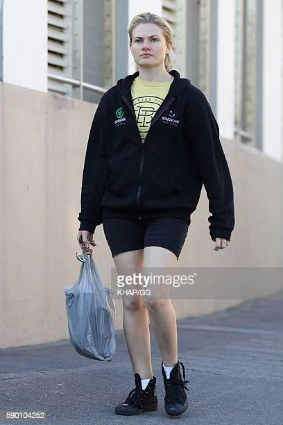 Bonnie Sveen sighted in Sydney on August 11 2016 in Sydney Australia