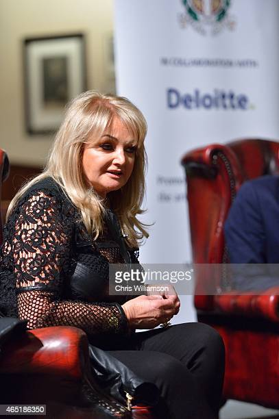 Bonnie Tyler during an address at The Cambridge Union on March 3 2015 in Cambridge Cambridgeshire