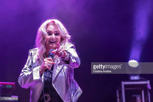 Bonnie Tyler perfoms on stage on July 18 2019 in Vilagarcía Spain