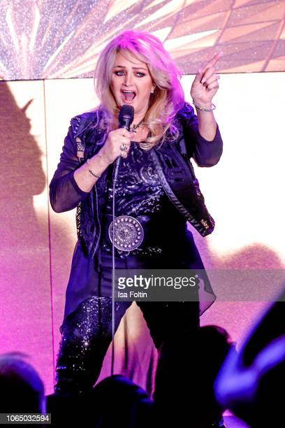 Bonnie Tyler performs during the 10th Laughing Hearts Charity Gala at Grand Hyatt Hotel on November 24 2018 in Berlin Germany