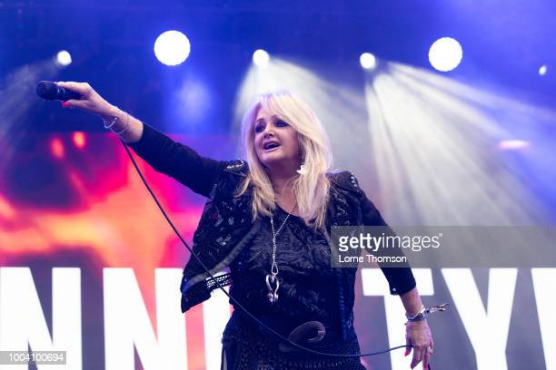 Bonnie Tyler performs live on stage during Rewind Scotland 2018 at Scone Palace on July 22 2018 in Perth Scotland
