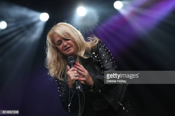 Bonnie Tyler performs on stage at Punchestown Music Festival at Punchestown Racecourse on July 30 2017 in Naas Ireland
