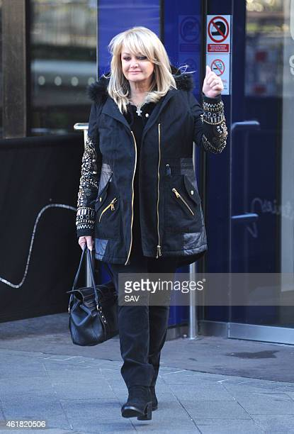 Bonnie Tyler sighting at Global House on January 20 2015 in London England